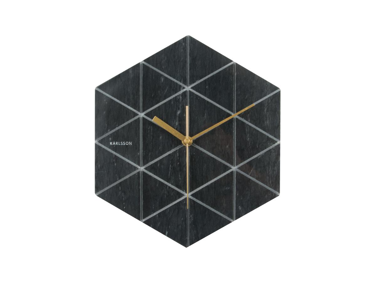 Часы настенные Marble Hexagon black, BOX32 Design