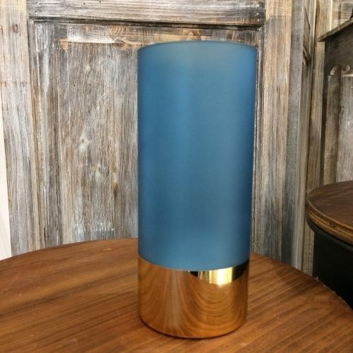 Ваза Gold Glamour glass matt blue
